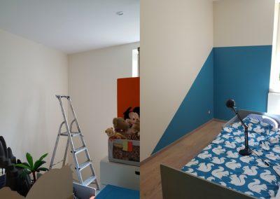 Mise en peinture d'une chambre