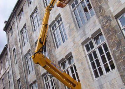 Nettoyage de vitres en hauteur
