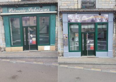 Rénovation de la façade d'un magasin
