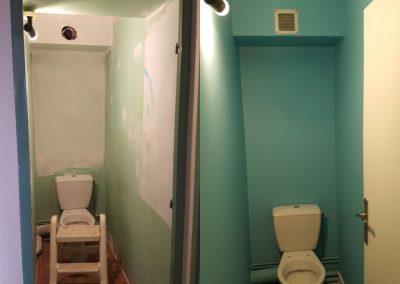 Rénovation d'un toilette